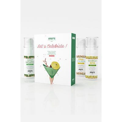 let's celebrate set 3x30ml dans Massage comestibles