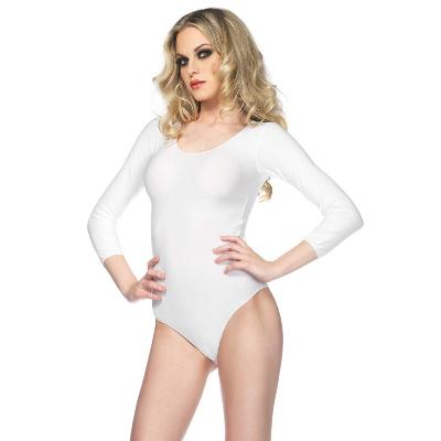body blanc manches longues opaque dans Body sexy