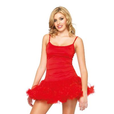 robe courte rouge sexy avec jupon dans Robes sexy